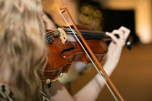 Elizabeth Mae plays violin for a wedding