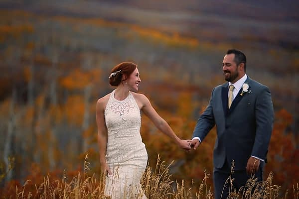 Cinematic adventure film of a beautiful couple at Powderhorn Resort, Colorado